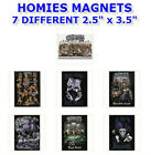 "7 NEW RETIRED 2003 HOMIES  2.5""x 3.5"" REFRIGERATOR FRIDGE METAL MAGNETS YOU PICK"
