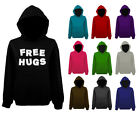Mens Free Hugs Funny Slogan Pullover Hoodie NEW XS-XXL