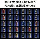 NBA BASKETBALL TEAMS FINGER SLEEVE WRAP BANDS -  SET OF TWO