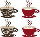 Coffee Tea Cups Mugs Vinyl Decal Wall Sticker Kitchen Dining Room Decor