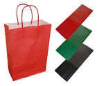 20 Red Paper Twist Handles Party Gift Bags & Coloured Tissue Paper