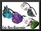 New Curved Multi Tonal Feather Spray Pad Hair Fascinator Alice Head Band Wedding