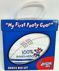OFFICIAL AFL NORTH MELBOURNE KANGAROOS FIRST FOOTY GEAR BABY T-SHIRT, CAP & BIB