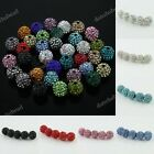 WHOLESALE LOTS CRYSTAL RESIN SPACER  CHARM  LOOSE BEADS JEWELRY FINDINGS 10MM