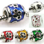 Wholesale 6pcs Silver Symbol European Spacer Charm Beads For Bracelet Necklace
