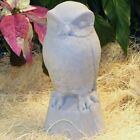Cast Stone Cement Owl Outdoor Garden Statue
