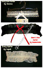 Ladies Ivory or Black Lace Garter - Wedding Bridal Charnos Underwear
