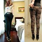 Casual Womens Ladies Leopard Pencil Long Harem Pants Skinny Trousers S L A1055