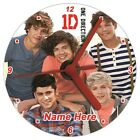 ONE DIRECTION - QUARTZ CD / DVD DISC CLOCK - PERSONALISED GIFT