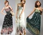 Womens BOHO Exotic Summer White Chiffon long Dress