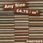 New Quality Modern Carpet Striped Loop Stripey - Lounge Bedroom - CHEAP ROLLS x4
