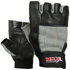 Weight Lifting Gloves Training GYM Glove Power Leather Long Elastic Wrist MRX