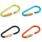 1pc Aluminum Locking Carabina Carabiner Camping Hiking Keyring Clip Snap Hook