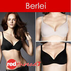 Berlei Barely There Bra Contour Underwire Cotton Nude Black Size 10 12 14 16 18