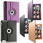 New iPad 3 & iPad 2 Leather Smart Cover Case 360 Degree Rotating with Sleep Wake