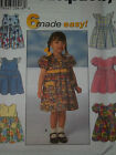 SIMPLICITY # 7669 -TODDLERS ADORABLE BACK ZIPPERED FLARED DRESS PATTERN  ½ - 4uc