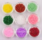 Wholesale 200pcs Bright 9 Colors Charm Glass Crystal Clear Ball Spacer Beads 4mm