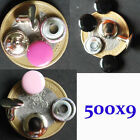 500 x 9mm HOT PINK baby pink BLACK Double Cap RIVETS Denim Leather Craft dot