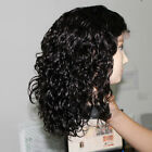 "8""-22""Curly 100% Indian Remy Extensions Human Hair Lace Front Wigs free shipping"