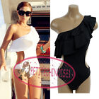 S Shape Ruffle One Shoulder Monokini One Piece Swimsuit Bathing Suit UW313