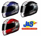 KBC XP3 GALLANT FULL FACE MOTORCYCLE MOTORBIKE CRASH HELMET RACING RACE LID J&S