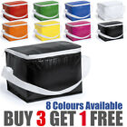 BUDGET COOLER LUNCH BOX COOL BAG DINNER FOOD DRINK HOLDS 6 CANS / 3.5L PICNIC UK