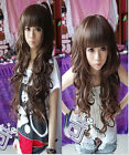 Beautiful non-mainstream Fluffy repair face long hair cosplay wig   FREE