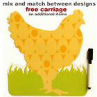 Hen magnetic dry wipe memo board, pen. Note pad, new, kitchen. Chicken