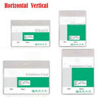 5 PCS Horizontal/Vertical Clear Vinyl Badge ID Card Holder - 4 sizes available