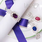 Diamante Gem Silver Napkin Ring Bridal Wedding Party Favour Table Decoration