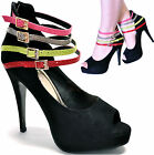 New women's shoes peep toe pump high heel stilettos suede like back zipper black