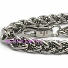 Mens Boys Silver 316L Stainless Steel Wheat Chain Necklace Gift