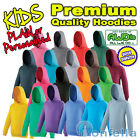 NEW KIDS PREMIUM QUALITY HOODIE - Plain Personalised Blank Hoody AWD CHILD JH01J
