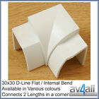 D-Line 30x30 Quadrant Internal Flat Bend to hide tv wires along Skirting Board