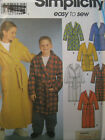 SIMPLICITY #9941 - BOYS / GIRLS (EASY TO SEW) LONG - SHORT ROBE PATTERN 7-10 uc