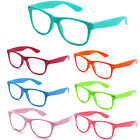 Celeb Fashion Designer Clear Lens Glasses Vintage Retro 60s Red Neon KY8032-CN2