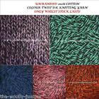 UN-BANDED 100% COTTON KNITTING YARN 90G+ TWO COLOUR TWIST - VARIOUS SHADES