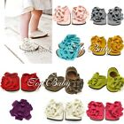 Baby Toddler Infant Girl Cotton Shoe Ties Flower Kid Booties Slippers Accessory