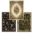 "Traditional Floral Oriental Area Rug 5x7 Border Persian Carpet -Actual 5'2""X7'2"""