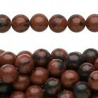 "16"" Strand Natural Mahogany Obsidian Gemstone Beads * 4mm 6mm OR 8mm"