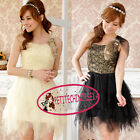 One Shoulder Lace Ruffle Fur Mini Cocktail Bridesmaid Prom Frock Dress UJ9201