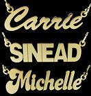 9CT GOLD PLATED ON STERLING SILVER SMALL CARRIE ANY NAME PLATE NECKLACE & CHAIN