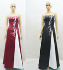 Sexy Embroidery Formal Prom Gown Bridesmaid Cocktail Party Evening Dress Sz 6-18