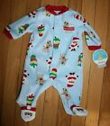 NEW Child of Mine by Carter's Blue Fleece My 1st Christmas One Piece Outfit ~Inf