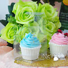 50/100pcs 3x3x3'' Cupcake Box Insert Included Wedding Party Favor Gift Candy Box