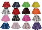 "Childs Short 12""  Polka Dot Full Circle Skater Skirt Fancy Dress Age 3 - 8"