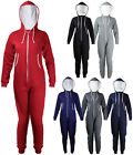 New Womens Long Sleeve Hood Zip Up Onesie Ladies Pocket Jumpsuit Plus Size 16-24