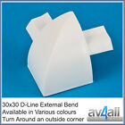 D-Line 30x30 Quadrant External Bend to hide tv wires around a skirting board