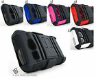 for Kyocera Hydro +Pry Tool Heavy Duty Hybrid Case&Belt Clip Holster Stand