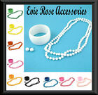 New Long Bead Necklace Ball Stud Earrings and Cuff Bangle Matching Jewellery Set